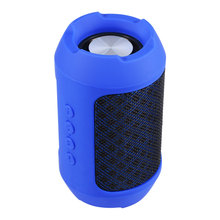 Portable Bluetooth Speaker ABS Plastic Woven Fabrics Surface Ture Wireless Stereo Speaker FM Radio BS-116 MP3 Player for xiaomi