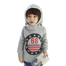 Baby Boys Warm  Wool  Fleeces Thick Coat Kids Cotton Hoodie Tops Jacket Sweater Pullover Outwear with 2-6 years