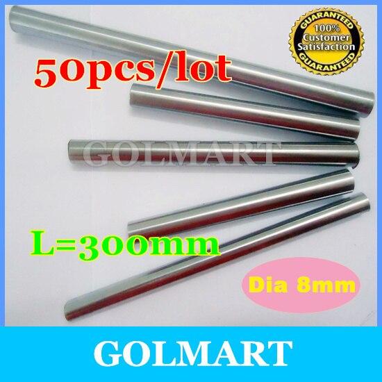 Линейный вал 50 шт. диаметр 8 мм-L 300 мм хромированный линейный вал ЧПУ скольжение линейным движением Системы XYZ XY вал/Rail таблицу