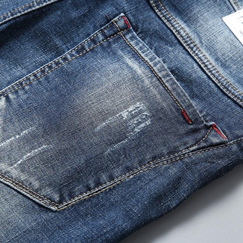 Hot DealsDenim Shorts Jeans Stretch Slim-Fit Elastic Fashion Casual Summer Male Men's New Brand