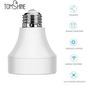 Image 3 - E27 E26 LED Wifi Điều Khiển Ánh Sáng Căn Cứ Công Tắc Đui đèn Thông Minh Không Dây Đèn Bóng Ổ Cắm chuyển đổi cho Android /IOS