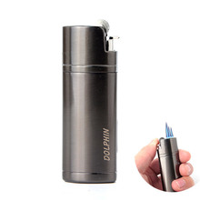 Three Nozzles Jet Torch Turbo Lighter Hollow Free Fire Windproof Metal Cigar Pipe Gas 1300 C Butane Gadgets For Man