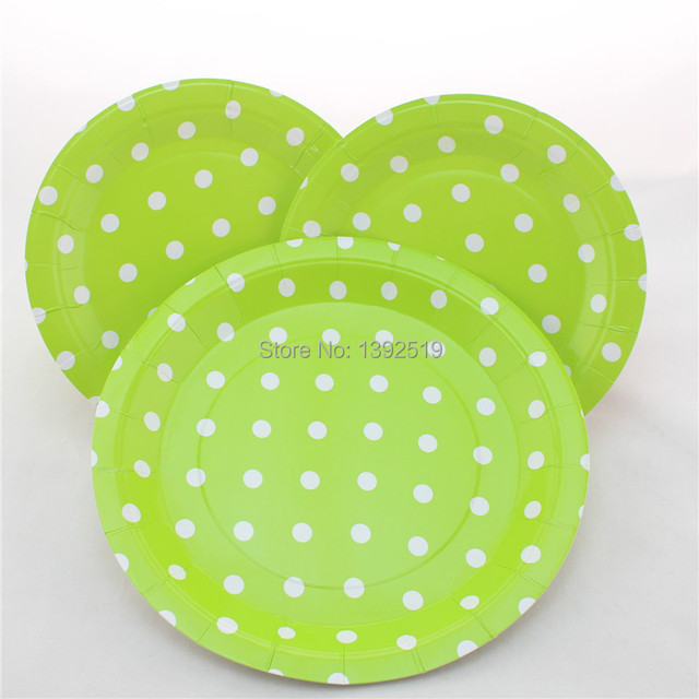 Free Shipping 48pcs Lime Green Polka Dot Paper Party Plates Party Cake Plates  sc 1 st  AliExpress.com & Free Shipping 48pcs Lime Green Polka Dot Paper Party Plates Party ...