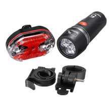 AIMIHUO Bike Bicycle Cycling Front 5 LED Head Light + 9 LED Back Rear Flashlight For camping riding