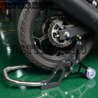 Motorcycle Rear Swingarm Lift Spools Slider Stand Aluminum kickstand Universal For Kawasaki Ninja 650R 2006 2013 Z750 2004 2012