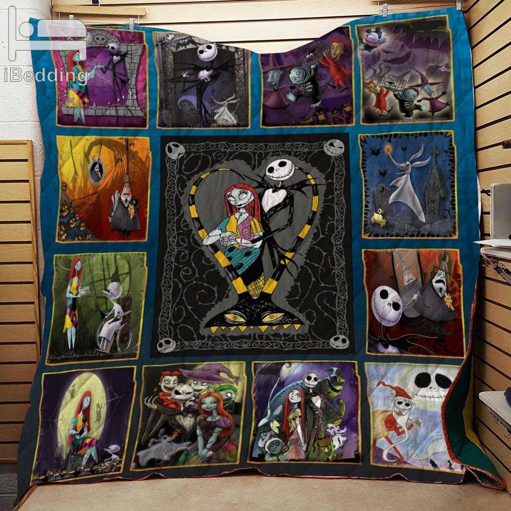 The Nightmare Before Christmas Printed Quilt Blanket Twin Full/Queen King Size Customize Dropshipping
