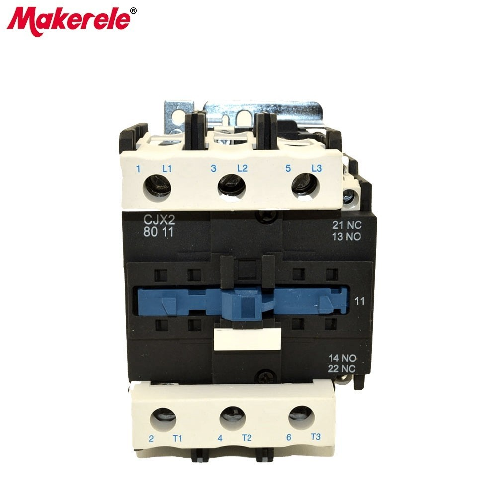CJX2-8011 AC Contator 80A 50/60Hz LC1 3 Phase 3-Pole Coil Voltage 380V 220V 110V 36V 24V 3P+1NO+1NC Din Rail Mount AC Contactor 10 pcs car spdt 5 pin 1no 1nc green indicator relay ceramic socket 80a 12v dc