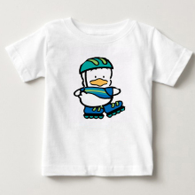 Children summer T-shirt skating cartoon kid boy and girl cotton sports breathable cute 3 -15y MJ