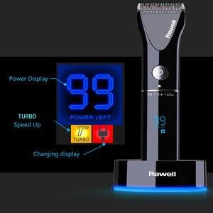 Image 4 - Profesyonel Saç kesme makası Lityum pil hızlı şarj LCD Hız berber aletleri Şarj Edilebilir kesici makinesi 100 240 V