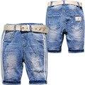 3929 de media longitud de Niños ropa Para Niños Pantalones Vaqueros pantalones cortos de mezclilla verano niños y niñas jeans verano suave moda de nueva