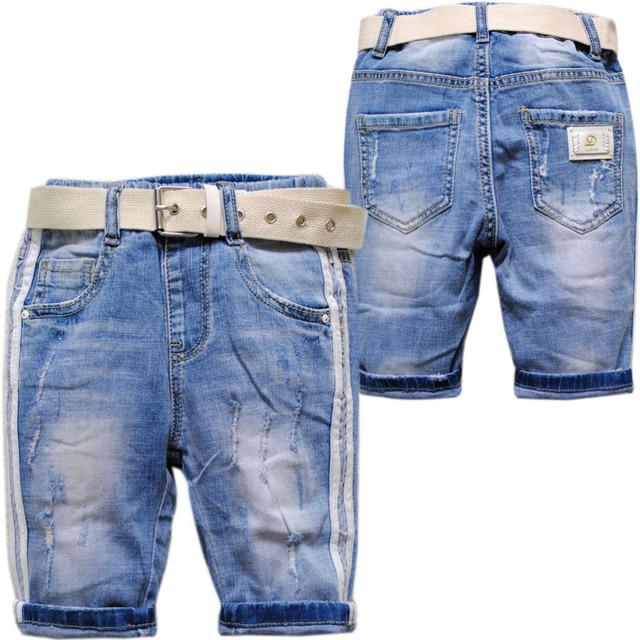 3929 half-length Roupas das Crianças dos miúdos calças de Brim shorts jeans verão meninos e meninas de jeans verão moda macio novo
