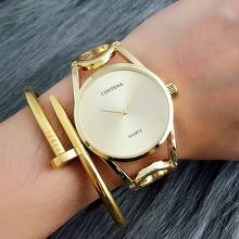 CONTENA Diseñador único Vestido de Las Señoras Relojes de Pulsera de Moda de Lujo Elegante Reloj de Pulsera Reloj de Las Mujeres Horloges vrouwen orologio