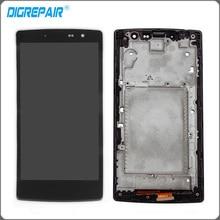 Nueva Negro Para LG G4 miniC H522 H525N Pantalla LCD Asamblea del Reemplazo de Cristal Digitalizador de Pantalla táctil con el Marco Del Bisel Completo partes