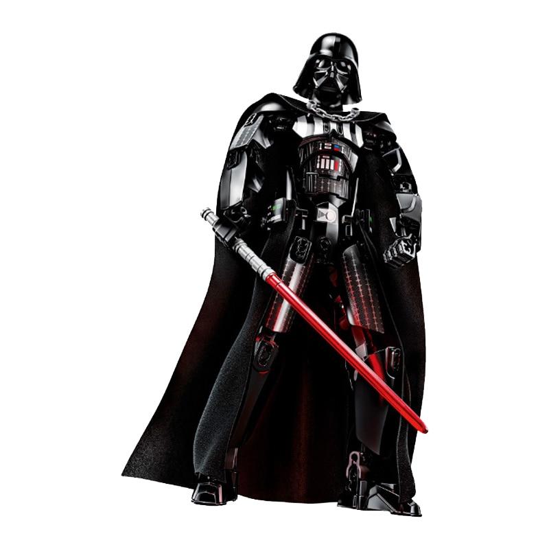 Звездные войны сборная фигура строительный блок Штурмовик Дарт Вейдер Kylo Ren Chewbacca Boba Jango Фетт фигурка игрушка для детей - Цвет: Darth Vader II