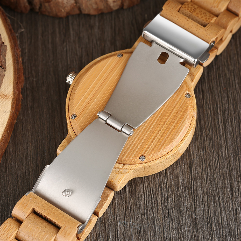 YISUYA Simple Handmade Nature Wood Quartz Wristwatch Analog Casual Women Full Wooden Bamboo Men Creative Watches 2017 New (11)