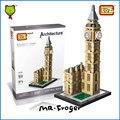 Mr. froger elizabeth tower loz mini bloques arquitectura big ben reloj modelo de torre de bloques de construcción de juguetes educativos para niños