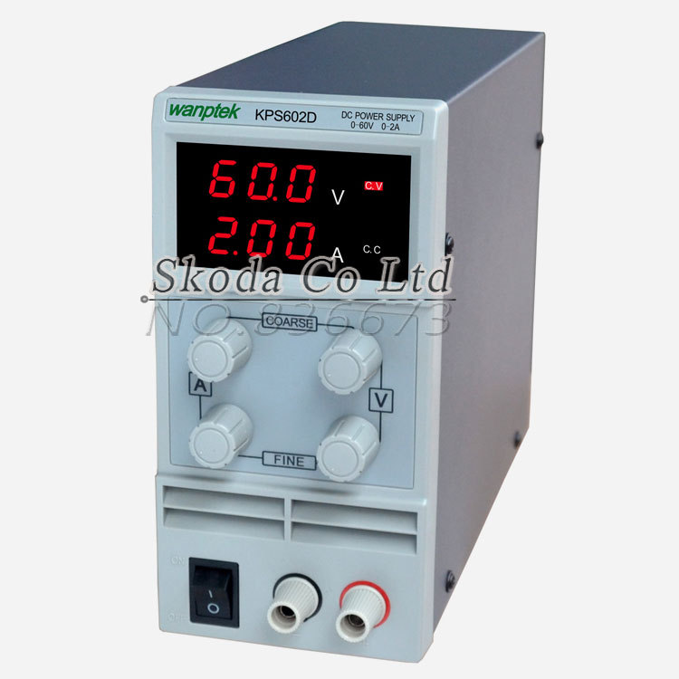 Newest mini switching DC power supply KPS602D 60V 2A Single Channel adjustable SMPS Digital 0.1V 0.01A DC power supply kuaiqu mini dc power supply switching laboratory power supply digital variable adjustable power supply 0 60v 0 5a ps605d