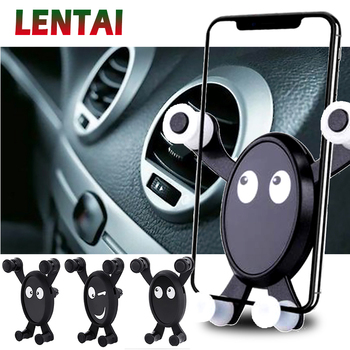 LENTAI For Peugeot 206 307 407 308 207 508 3008 Renault megane 2 3 duster Infiniti NEW 1PC Car Mobile Phone Holder Bracket Black image