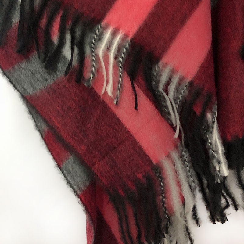 Bohemian Women 39 s Autumn Winter Poncho Ethnic Plaid Scarf Fashion Blanket Scarves Lady Knit Tassel Shawl Thick Femme Pashmina in Women 39 s Scarves from Apparel Accessories