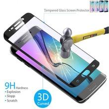 9H полное покрытие закаленное стекло протектор экрана для samsung Galaxy S6Edge/S6 Edge Plus/S7/S 7 Edge S 6 7 закругленные края чехол