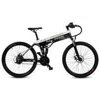 """27 geschwindigkeiten, 26 """", Klapp Elektrische Fahrrad, 48 V/10A, 240 W, aluminium Legierung Rahmen & Rim, Full Suspension, E Fahrrad, Mountainbike."""