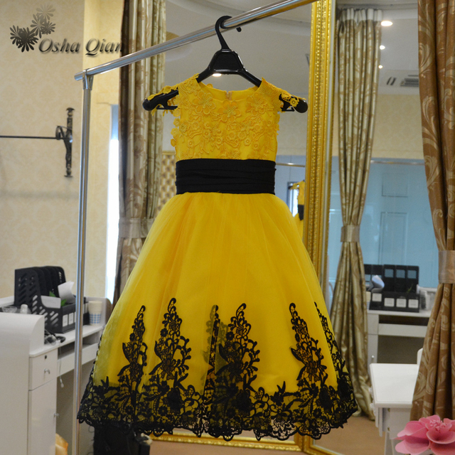 First communion dresses for girls tulle yellow and black flower girl first communion dresses for girls tulle yellow and black flower girl dress long pageant ball gowns mightylinksfo