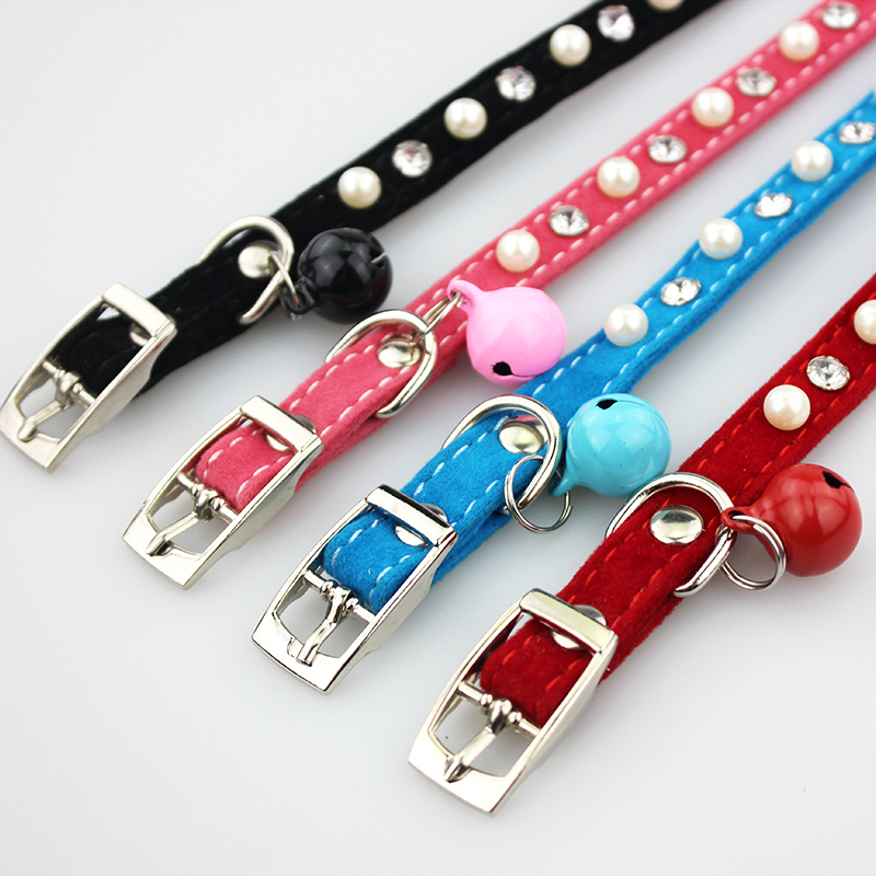 Cat Collar With Bell For Kitty And Small Dog Pet Prodcuts Necklace Collar Jewelry For Puppy And Cat Retractable Accessory Jw0002 #4