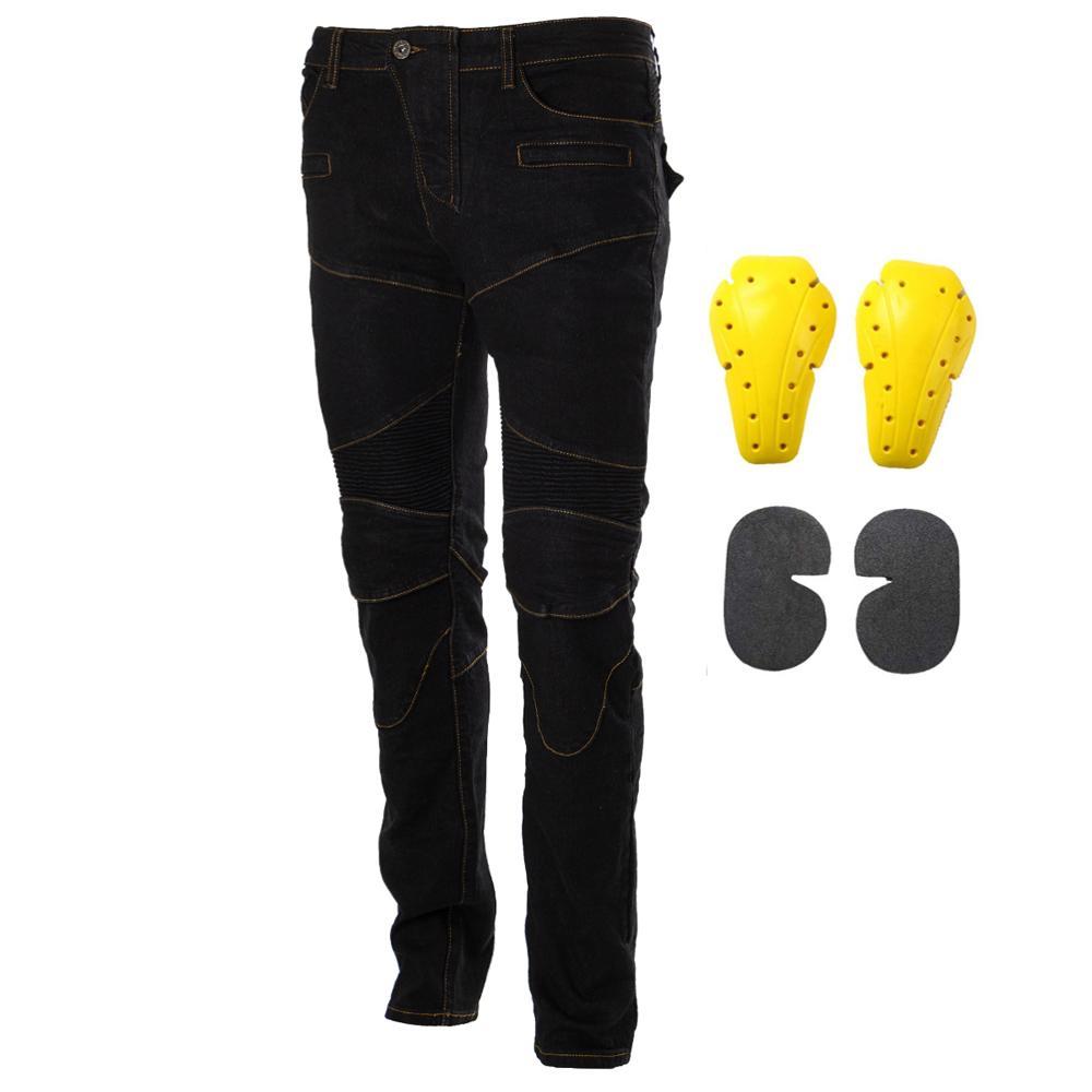 Moto équitation Pantalon Pantalon Moto Jeans pour hommes femmes Motocross course Pantalon avec 4 genouillères hanche protections 1