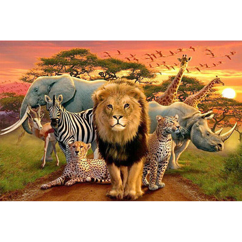 3d diamond painting cross stitch embroidery diamond mosaic animal wall sticker lion tiger painting hobby puzzle picture HL257