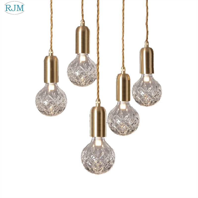 Postmodern Crystal Glass Ball Pendant Lights Creative Gold LED Hanglamp Kitchen Bedroom Lustre Suspension Luminaire DecorativePostmodern Crystal Glass Ball Pendant Lights Creative Gold LED Hanglamp Kitchen Bedroom Lustre Suspension Luminaire Decorative