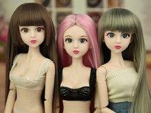 Perruque de poupée 1/4/11 couleurs, cheveux longs et lisses, accessoires en fibre de haute température, Cosplay DIY pour poupée 1/4 BJD Xinyi SD