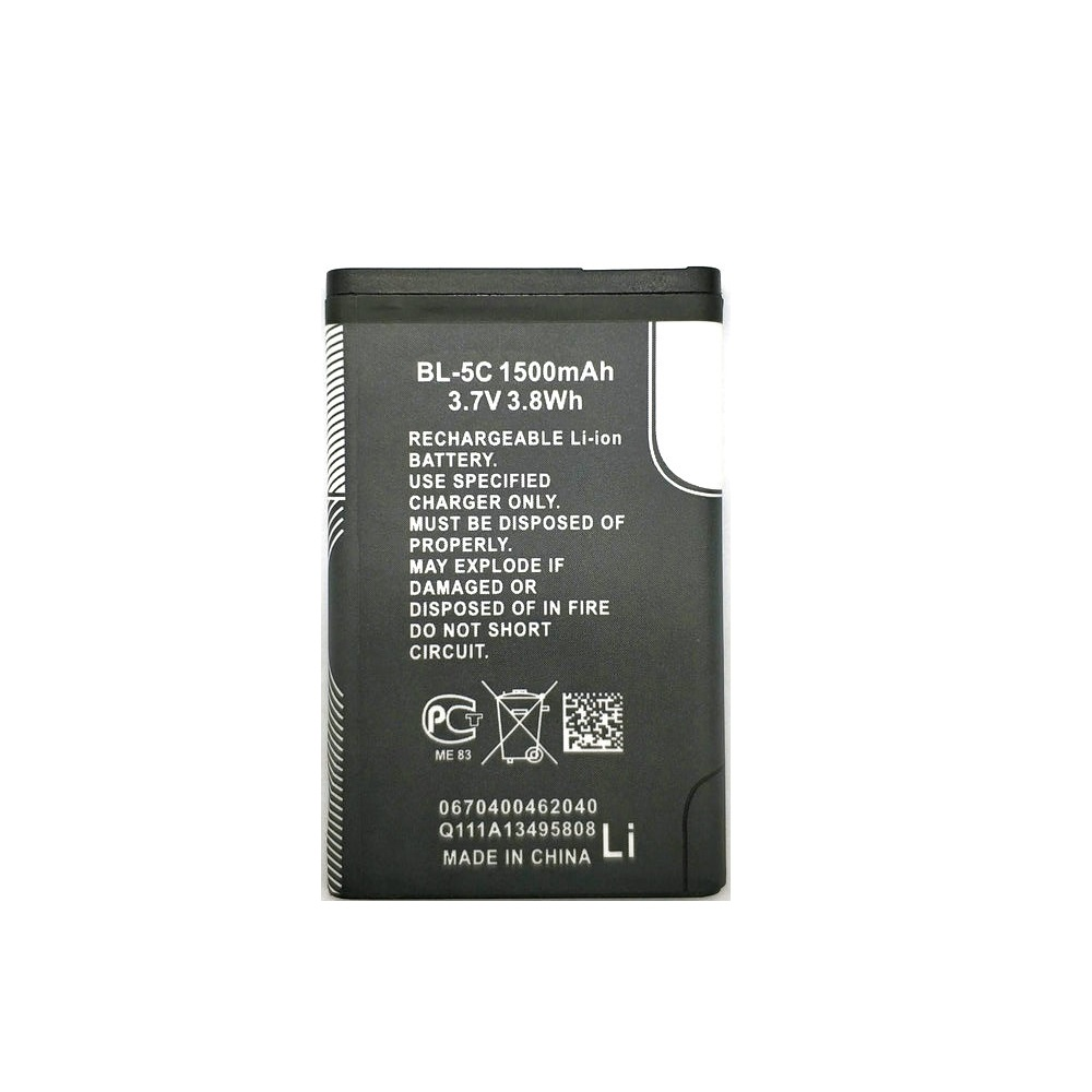 2 X New High Quality BL-5C BL 5C 1500mAh Battery for <font><b>Nokia</b></font> 1100 1101 1110 1112 1200 1208 1209 1600 <font><b>1650</b></font> 2300 3100 E50 E60 N73 image