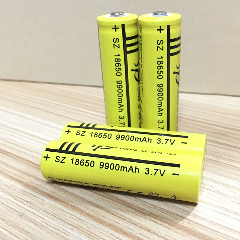DING LI SHI JIA 4Pcs 18650 Battery 9900mAh 3.7V Rechargeable Battery Li-ion Lithium for Flashlight Torch Headlight Head batte 2017 brand new 18650 battery 3 7v 9900mah rechargeable li ion battery for led flashlight torch cell flashlight battery