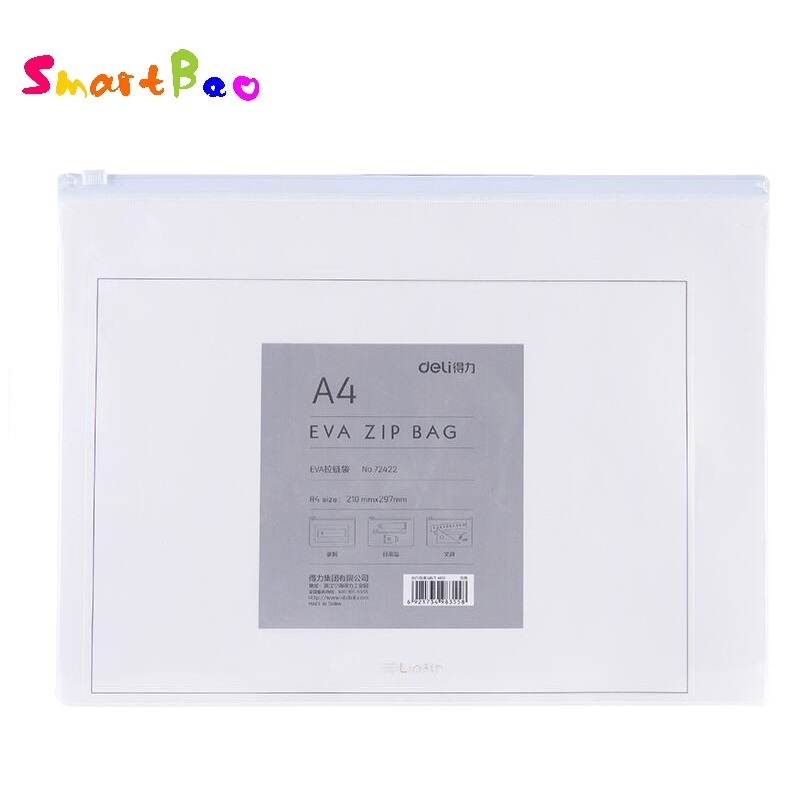 2Pcs/Lot High Quality EVA A4 File Folder Waterproof Zipper Bag Eco-friendly Document Bag ; 297*210mm