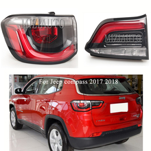 For Jeep compass 2017 2018 Rear Tail Light  1PCS Left/Right Brake Light Rear Bumper Light Tail Stop Lamp assembly MIZIAUTO for chery a3 sedan reversing light rear tail lamp assembly brake light lamp tail light assembly