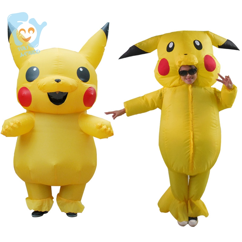 Pikachu Costume Pokemon Cosplay Inflatable Halloween -3726