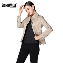 SKINNWILL2017 Fashion Warm stand collar winter jacket women Autumn and Spring Short Women's coats and jackets