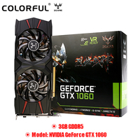 Colorful NVIDIA GeForce GTX 1060 3GB Video Graphics Card 8008MHz GDDR5 16nm 192bit Map Support HDMI DVI for Gaming Video Cardr