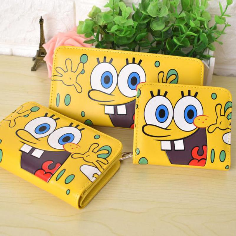 Cute Cartoon Spongebob Stitch Wallets Women Leather Coin Purse Wallet Girls Card Holder For Children Gifts