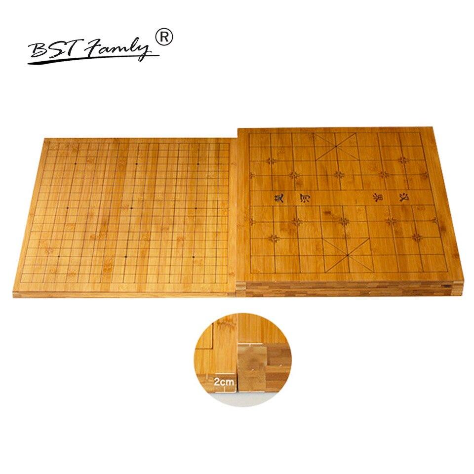 BSTFAMLY bois Go échecs 19 échiquier de route 44cm * 47cm * 2cm retour est chinois damier vieux jeu de Go Weiqi Board GB03