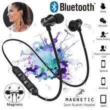 Magnetic Wireless Bluetooth Earphones V4.2 Stereo Sports Waterproof Ea