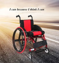 2019 Lightweight Folding handicap travel folding carry Powerful big sport tires wheelchair for patients attachment