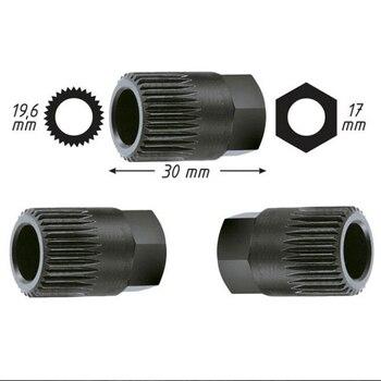 Top Alternator sprzęgło wolne koło pasowe narzędzie do usuwania 33 Spline dla VW/AUDI/FORD dla PEUGEOT 33TxH17