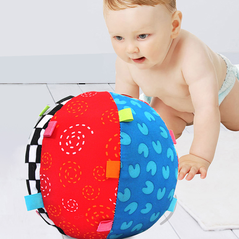 Baby Ball Colorful Sensory Ball Toy Soft Ring Bell Ball Early Educational Toy Music Ball For Newborn Valentine's Day Gift