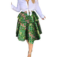 African Skirt Ankara Skirts for Women Casual African Clothes for Women Mini Skirts African Style Lady Plus Size Short Skirts