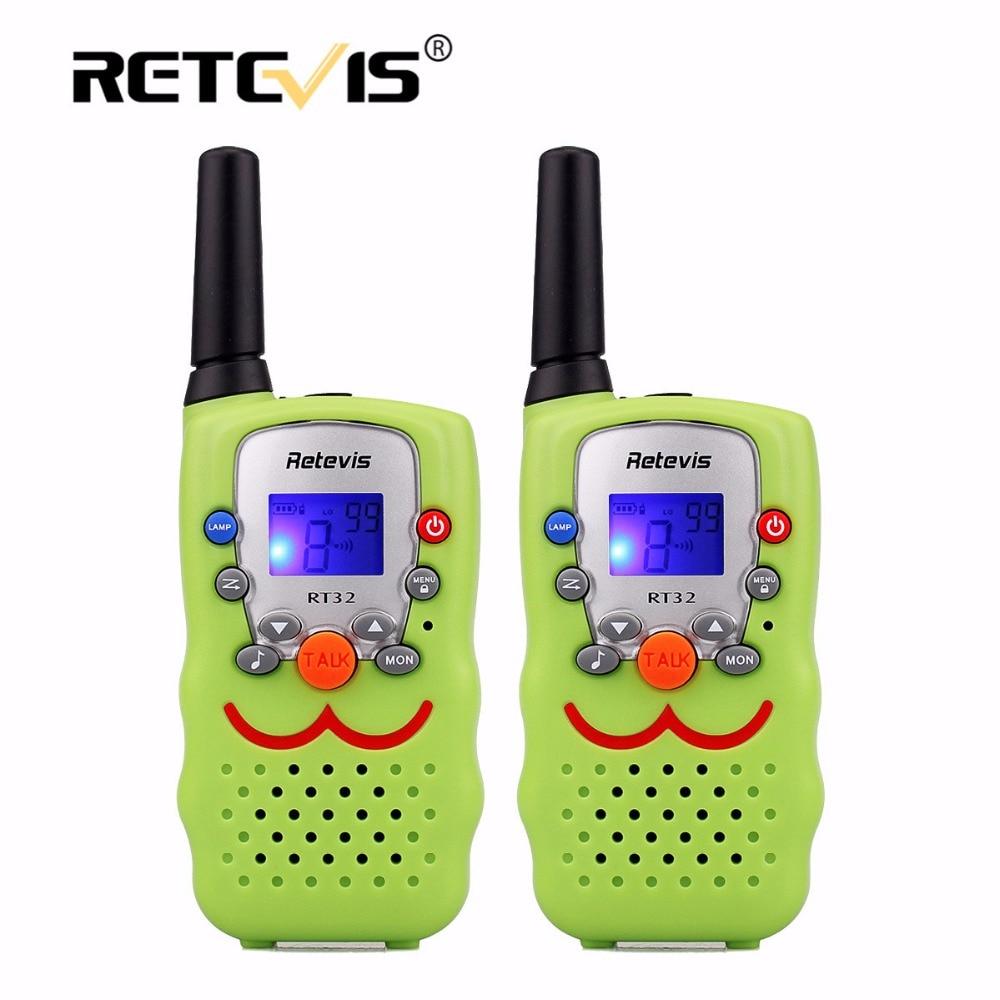 imágenes para 2 unids niños walkie talkie para niños radio retevis rt32 0.5 w 8/22ch regalo de radio de dos vías portable sin hilos radio comunicador a9113