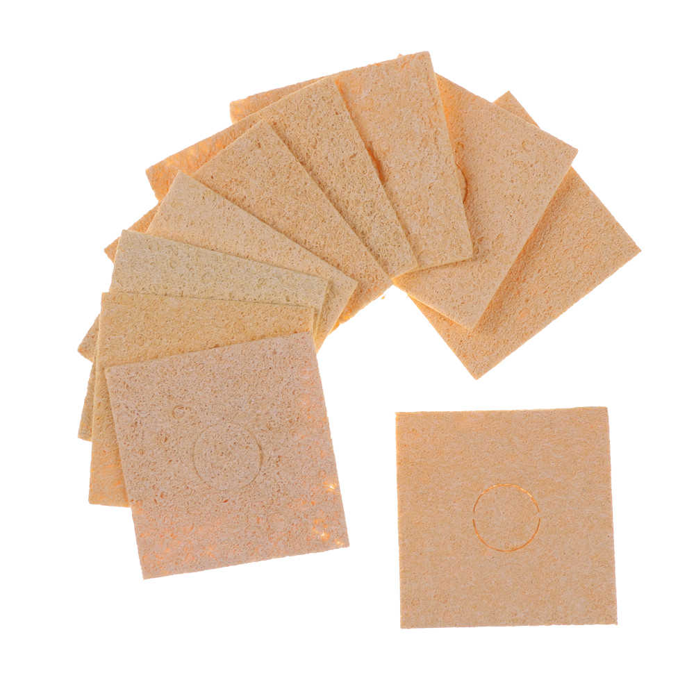 10 Buah/Banyak Las Cleaning Sponge Cleaner Membersihkan Spons Tertahankan Solder Solder Besi Tips 60 Mm X 60 Mm X 2 MM