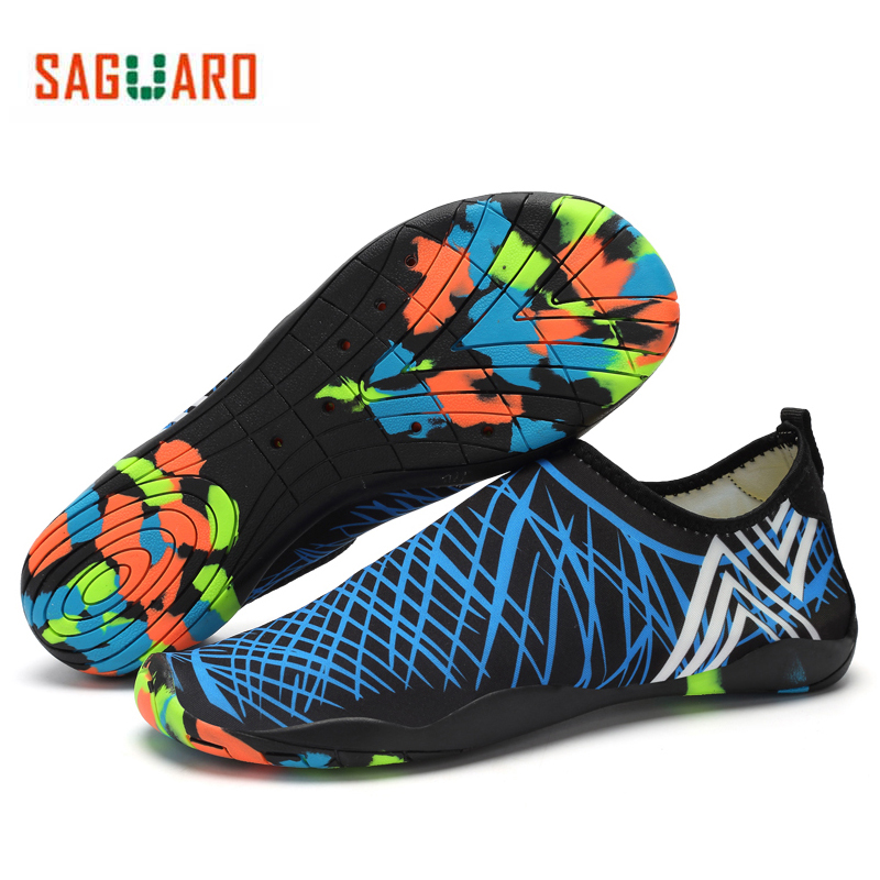 cd660008a SAGUARO Men Women Water Shoes Quick Drying Beach Barefoot Aqua Shoes ...