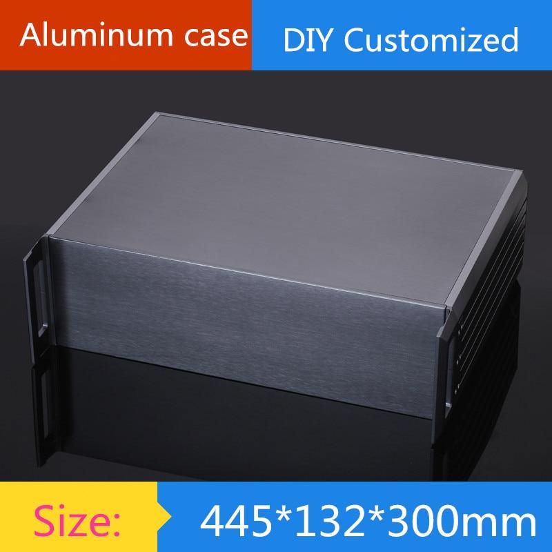 DIY amplifier case size 445*132*300mm Full aluminum 3U amplifier chassis/ instrumentation shell / AMP Enclosure / case / DIY box цены