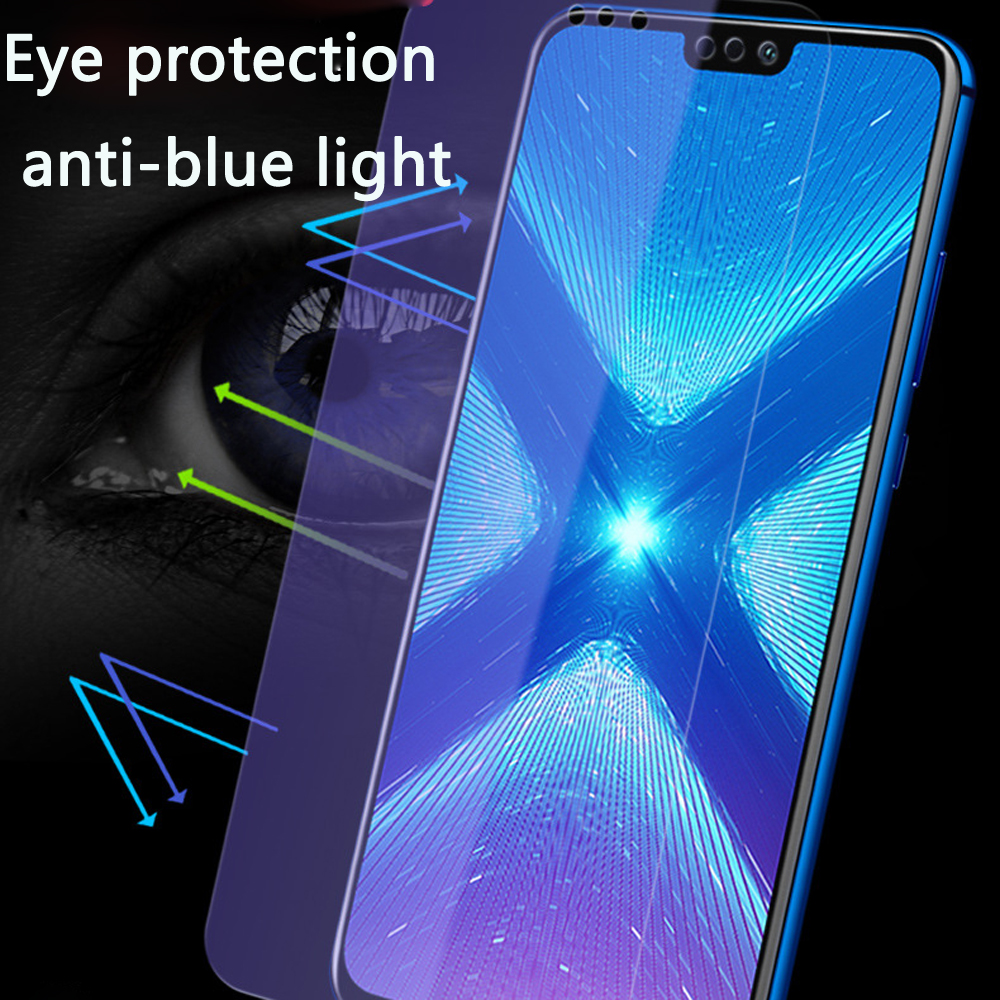 9D full coverage Tempered Glass For Huawei Honor 8X Screen Protector Protective Film Anti Blue Ray in Phone Screen Protectors from Cellphones Telecommunications